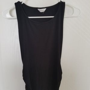 Black Dress with ruching